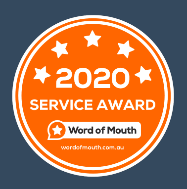 2020 Service award to RBizz Solutions by Word of Mouth Customers Reviews Platform.