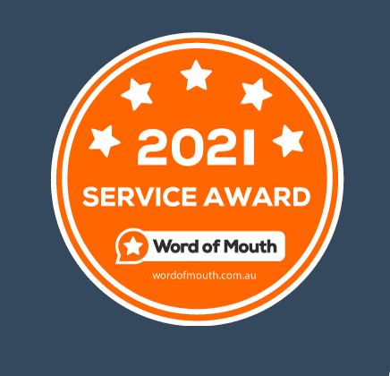 2021 Service award to RBizz Solutions by Word of Mouth Customers Reviews Platform.