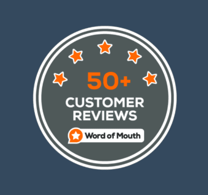 50+ customer reviews gained by RBizz Solutions of Word of Mouth Customers Reviews Platform.